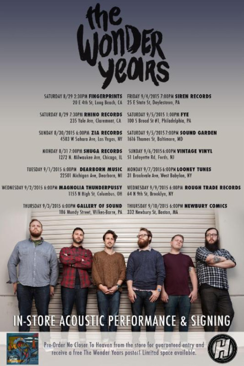 The Wonder Years Tour Poster 2015