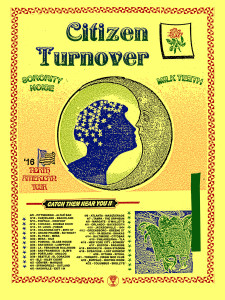 Citizen and Turnover tour poster