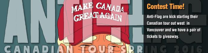 Anti-Flag Canada Tour