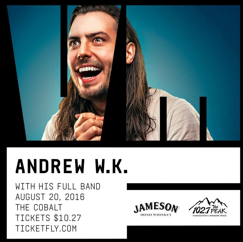 Andrew WK - live in Vancouver