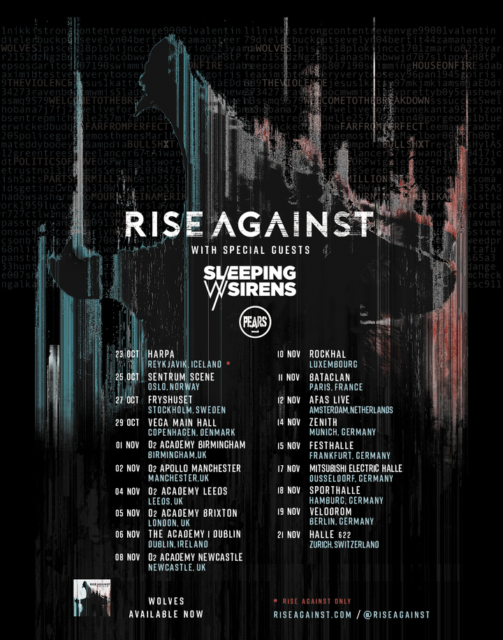 Rise Against EU Tour 17
