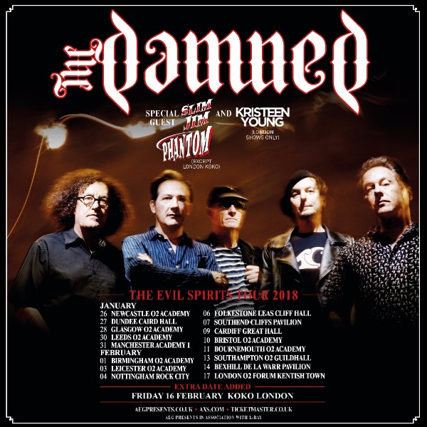 The Damned Evil Spirits Tour 2018 Dec 18